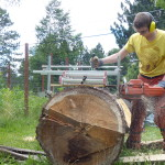 Log milling by hand with 394xp